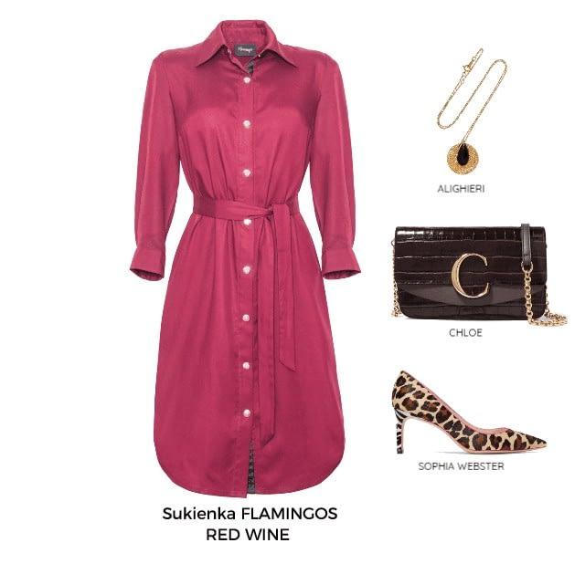 sukienka koszulowa z tencelu obowiązkowy model zestawienie jak ją nosić elegancko
