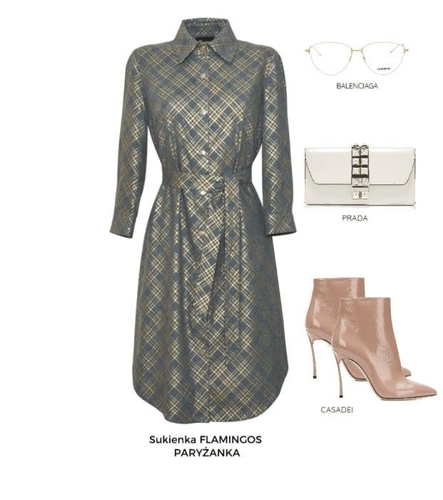 sukienka koszulowa Paryżanka obowiązkowy model zestawienie jak ją nosić elegancko