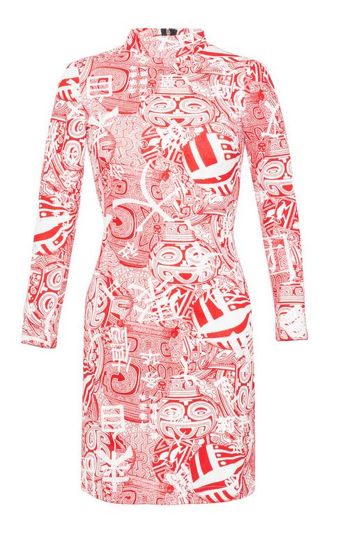 sukienka-tuba-kolorowa-bawelna