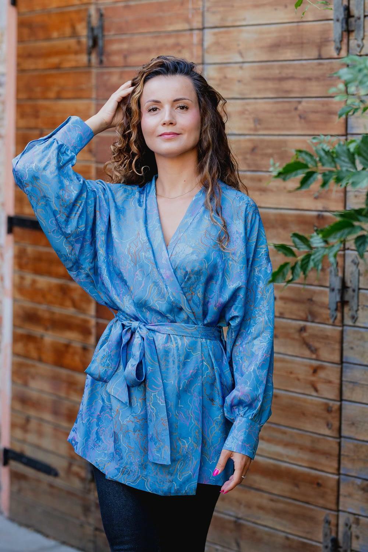 bluzka z wiskozy kimonowa ETNA