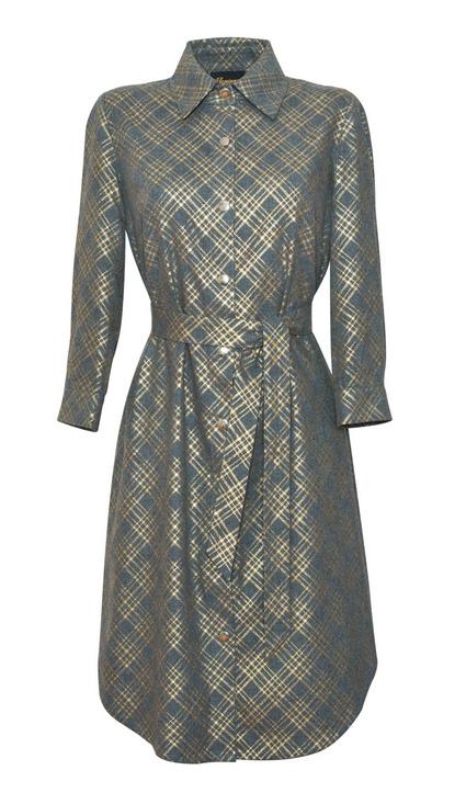 sukienka-koszulowa-szara-ze-zlotymi-pasami
