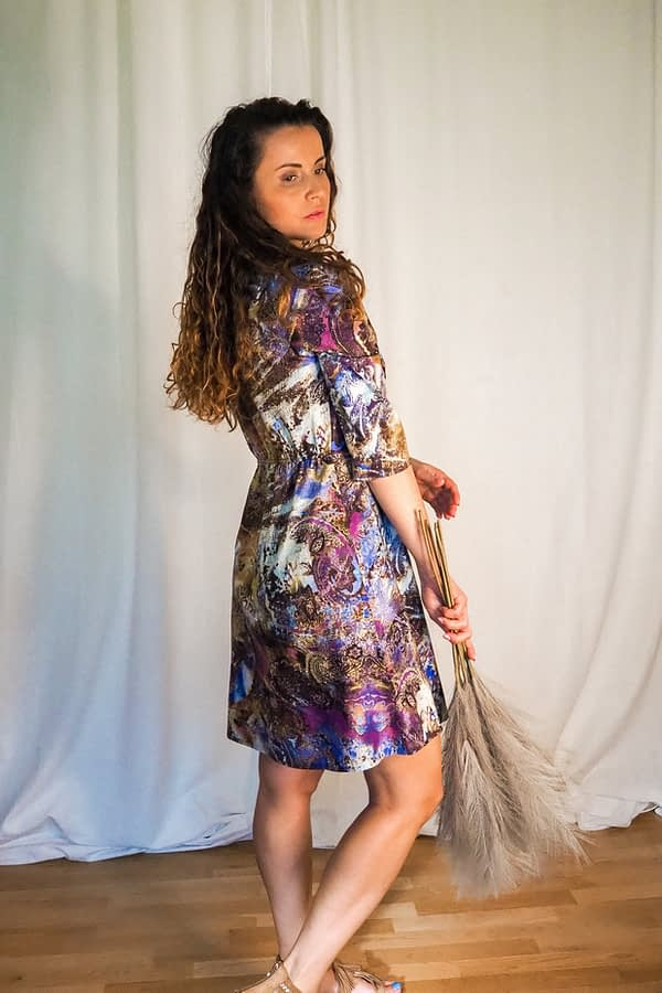 wiosenna sukienka midi