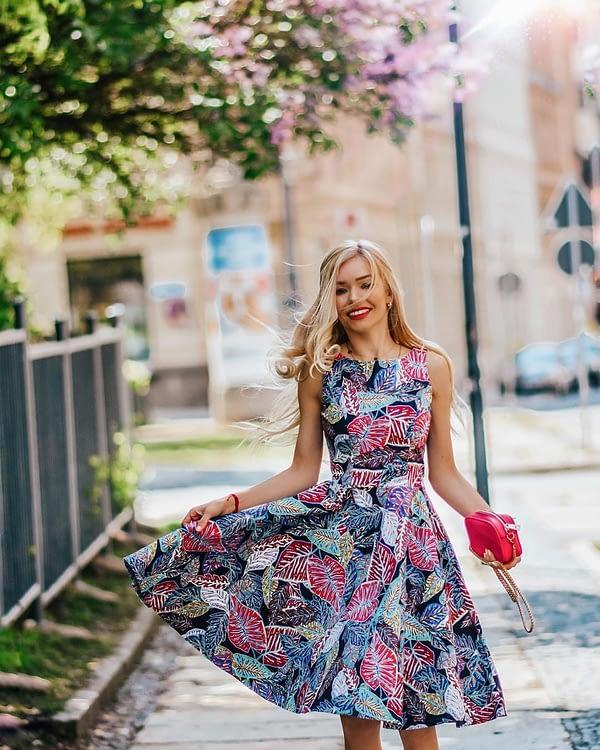 sukienka z koła na wesele i uroczystości
