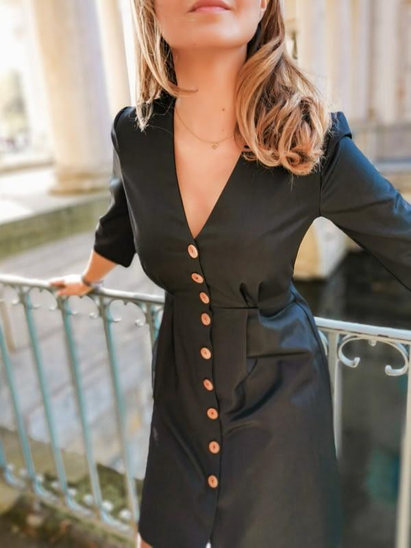 sukienka z wełny z jedwabiem