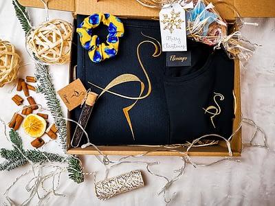 zestaw prezentowy tshirt supima eko torba bawełniana i gumka jedwabna