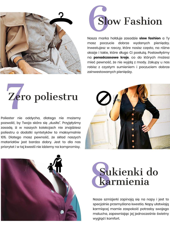 slow fashion zero poliestru sukienki do karmienia