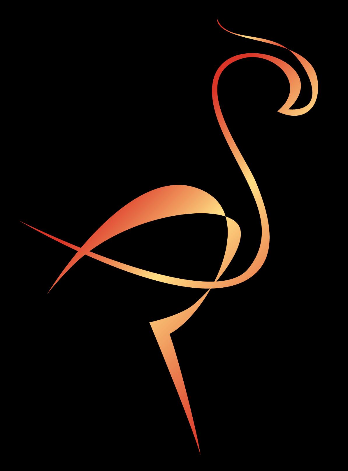 Złote logo Flamingos Clothes na przezroczystym tle - kobiece sukienki z naturalnych tkanin