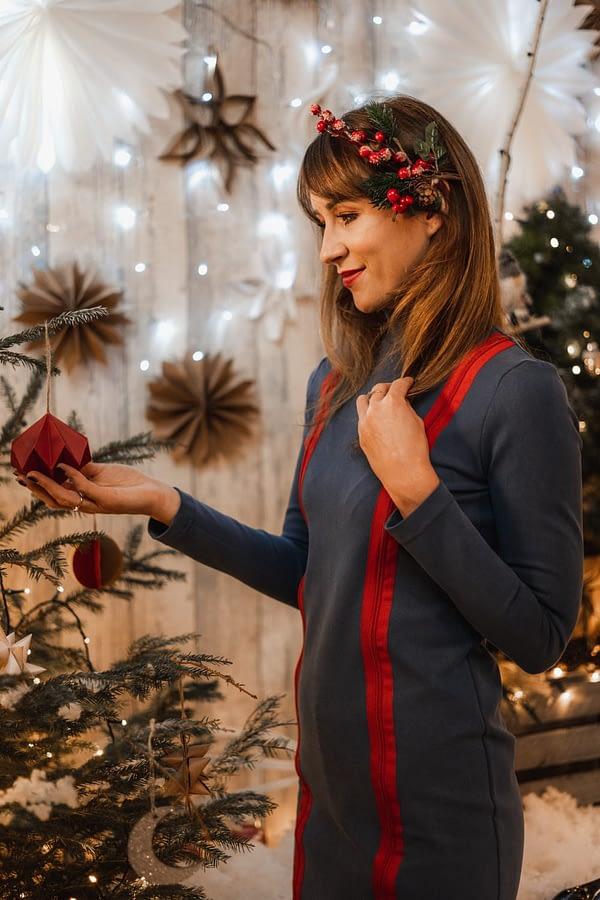 sukienka tuba z tencelu na święta