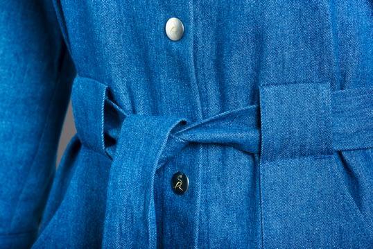 jeansowa sukienka koszulowa niebieska