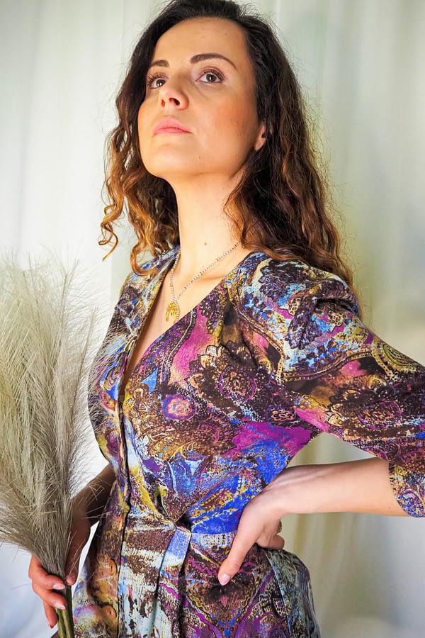 sukienka midi wiosenna