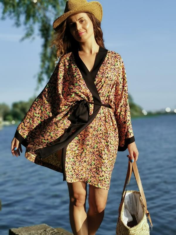 sukienka kimonowa z wiskozy